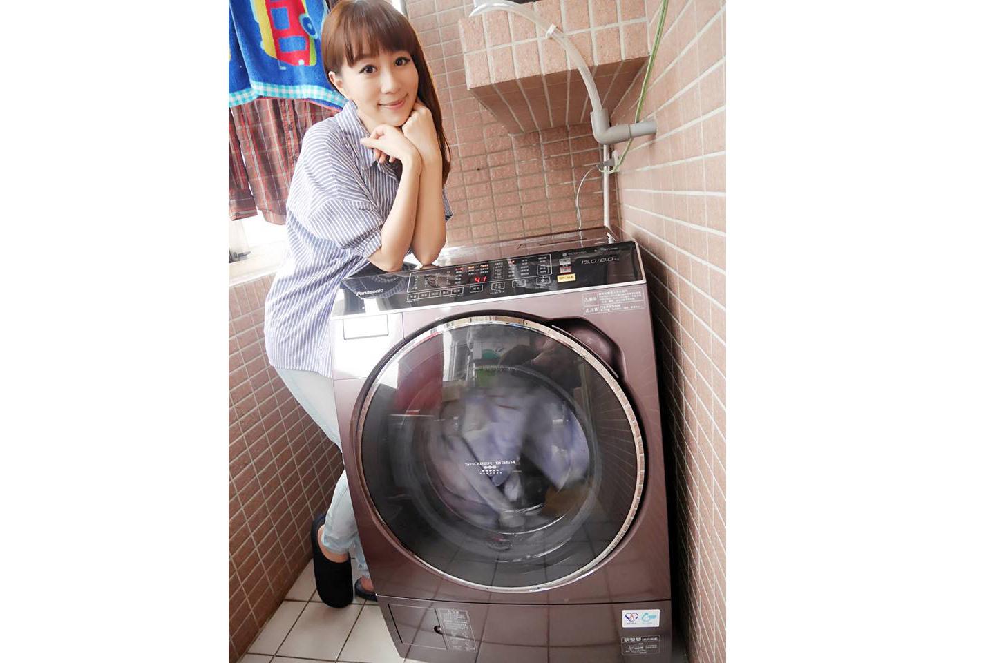 忙碌媽咪的洗衣神器♥Panasonic  NA-V168BDH滾筒洗衣機♥比你還聰明的ECONAVI智慧節能科技(≧∀≦)