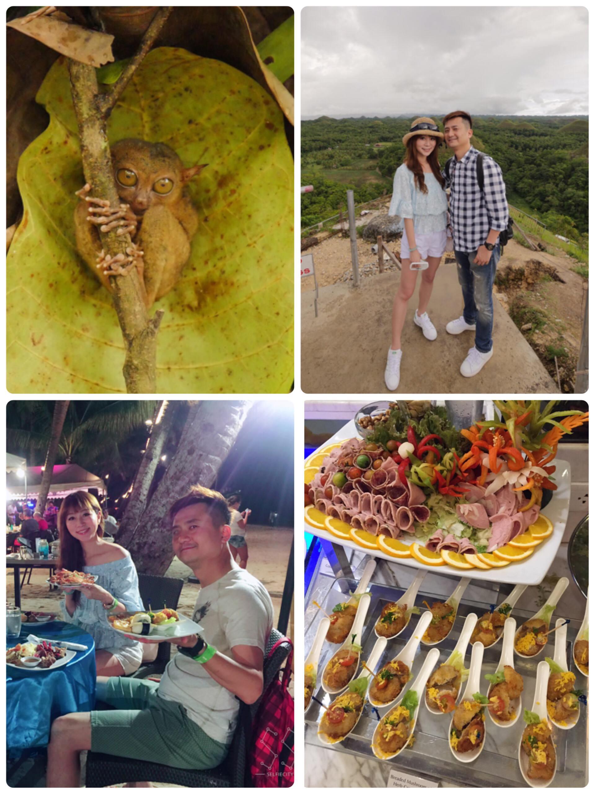 宿霧薄荷島人氣行程Park 1♥漂流竹筏午餐+巧克力山觀景坪+尋訪眼鏡猴的家+浪漫沙灘BBQ晚宴♥