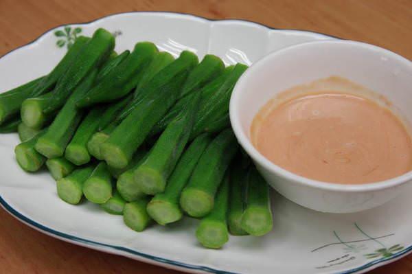 涼拌小菜-清燙秋葵 ♥愛媽上菜♥低熱量又養顏的美人菜
