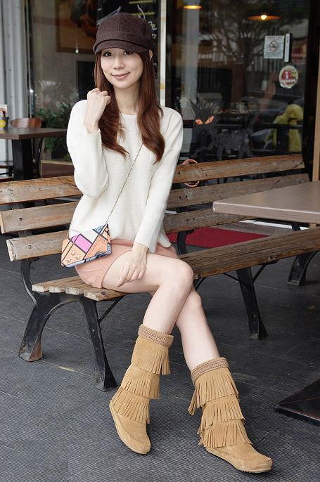 冬天就愛穿靴子♥今年入手的3雙靴子穿搭分享♥